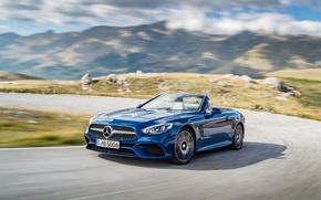 Picture blue, Mercedes-Benz, convertible, Mercedes, R231, SL-Class