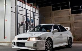 Picture Mitsubishi, Lancer, Evolution, White