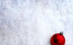 Wallpaper new year, ball, snow, winter