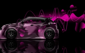 Picture Girl, Design, Black, Pink, Beetle, Style, Girl, Nissan, Wallpaper, Hearts, Background, Pink, Nissan, Photoshop, Photoshop, …