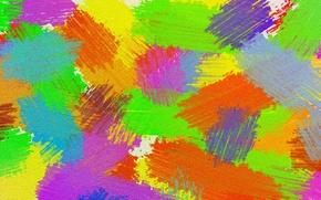 Picture light, canvas, paint, color, smear, touch