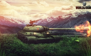 Picture Game, China, Games, Art, World of Tanks, Wargaming Net, WZ-111, FuriousGFX, OT-111