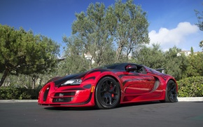 Picture Bugatti, Grand, Veyron, Sport, Vitesse, Rouge, L Or