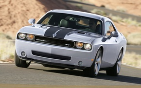 Picture machine, grey, Dodge, rides, SRT