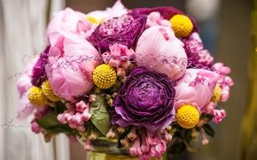 Picture flowers, pink, roses, flower, pink, bouquet, roses, bouquets, wedding day, wedding day