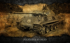 Picture Germany, art, tank, tanks, WoT, World of Tanks, Panther-M10