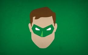 Wallpaper minimalism, Green Lantern, blo0p, Green lantern