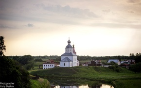 Picture the sky, Church, sunset., Photographer Yuri Clerks
