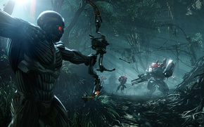 Picture bow, nanosuit, aliens, shooter, crysis 3, crytek