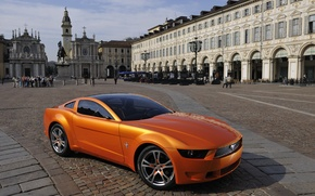 Picture Mustang, Ford, Orange, Ford Mustang