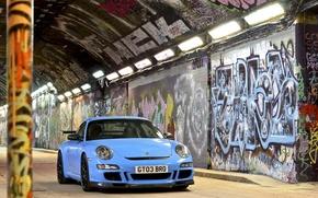 Picture 911, gt3, graffiti, Porsсhe