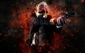 Picture Gun, Background, Weapon, Money, Mask, Payday: The Heist, Video Game, Overkill Software, Bank Robbery, Hoxton, …