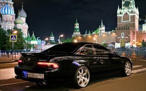 Picture car, machine, night, tuning, Japan, coupe, area, lexus, wheels, drives, black, japan, toyota, Lexus, rays, …