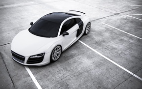 Picture white, Audi, Audi, Parking, white