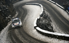 Wallpaper Winter, Snow, Volkswagen, Red Bull, WRC, Rally, Polo, The rise