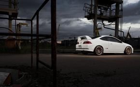 Picture white, Honda, Honda, Integra, Integra, Type-R, DC5