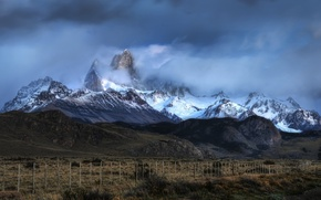 Wallpaper Argentina, mountains, clouds