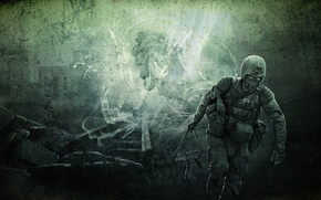 Picture weapons, art, soldiers, Call Of Pripyat, Kalash, S.T.A.L.K.E.R