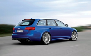 Picture machine, blue, Audi, Audi, RS6, РС6