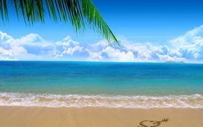 Wallpaper sea, beach, sand
