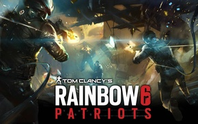 Picture night, bridge, the city, weapons, rain, soldiers, landing, patriot, tom clancys rainbow 6