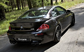 Picture forest, bmw, black, g-power