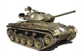 Picture light tank, M24 Chaffee, 76 mm