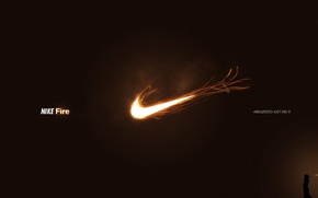 Picture fire, logo, nike