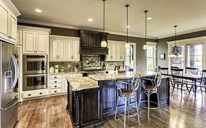 Picture furniture, Villa, interior, kitchen, luxury, Design, headsets, Interior, Kitchen