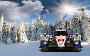 Picture auto, snow, Forest, Toyota-ts040 - hybrid