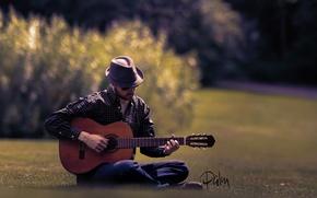 Picture music, guitar, guitarist