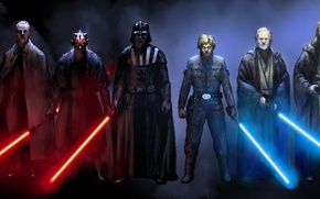 Picture star wars, Darth Vader, Star wars, Darth maul, Obi WAN, Emperor Palpatine, Qui-Gon, count Dooku, …