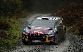 Picture Auto, Dirt, Citroen, Lights, Red Bull, DS3, WRC, Rally