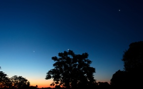 Picture The moon, Jupiter, Venus, Southern hemisphere