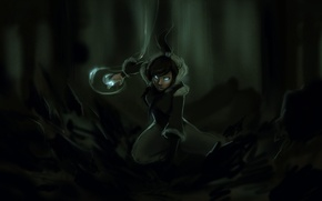 Picture forest, the wreckage, girl, earth, magic, art, avatar, times, the legend of korra