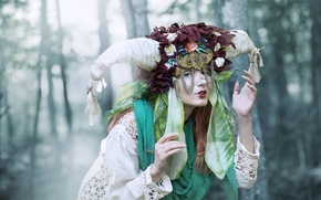 Picture girl, style, mask