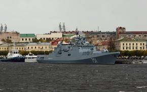 """Picture rain, ship, frigate, guard, """"Admiral Essen"""""""