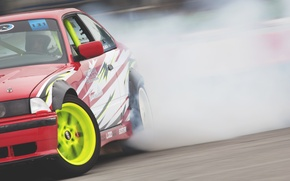 Picture car, BMW, drift, smoke, photo, race, burnout, e36, MMaglica photo, MMaglica, tire, Poljak, burn