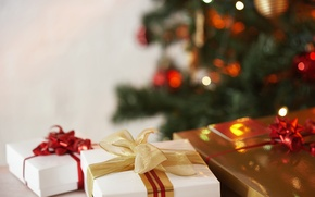 Picture background, holiday, tree, gifts, miracles