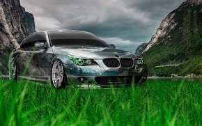 Picture Nature, Auto, Mountains, BMW, Machine, Tuning, BMW, Wallpaper, Nature, Creative, Grass, Photoshop, Green, Style, Beha, …