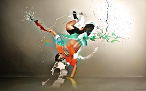 Wallpaper style, people, dance, break
