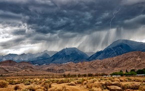 Picture Eastern Sierra, Nevada, monsoon, mountains, desert, rain, near Bishop