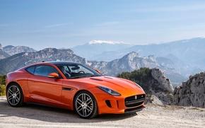 Picture jaguar, coupe, orange, f type