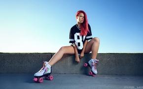 Picture girl, videos, t-shirt, red, girl, red, model, FlashnModels, Adea Black Bonnevie