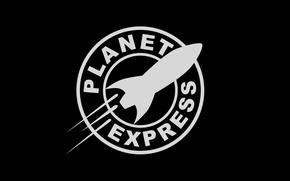 Picture logo, futurama, planet express