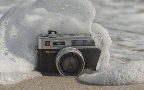 Picture macro, wave, camera
