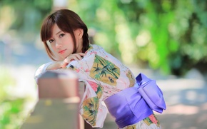 Picture summer, face, style, model, clothing, kimono