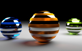 Picture rendering, balls