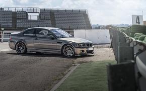 Picture BMW, BMW, profile, grey, grey, E46