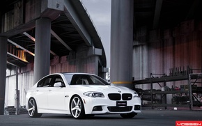 Picture BMW, white, tuning, 5 series, f10, vossen